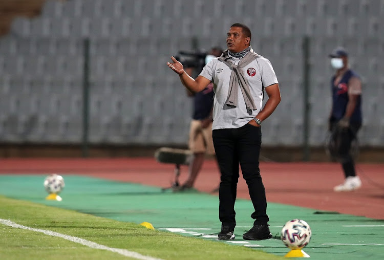 Brandon Truter, Coach of Swallows during the DStv Premiership match between Swallows and Bloemfontein Celtic at Volkswagen Dobsonville Stadium on October 28, 2020 in Johannesburg, South Africa.