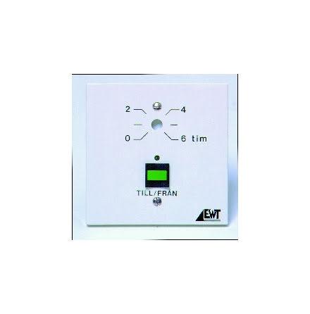 Timer, tidsinställning med skruv, 0-6tim, 24VAC/DC el 230VAC