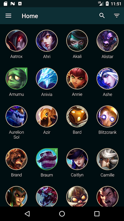 Builds for LoL- screenshot