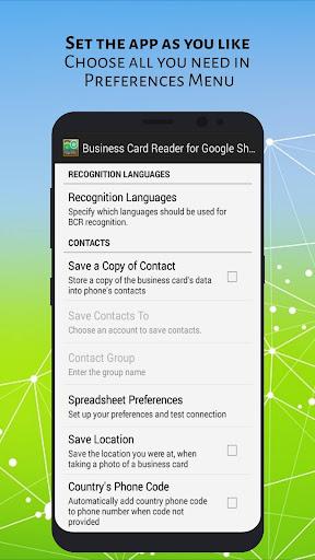 Business card reader for google sheets apk download apkpure business card reader for google sheets screenshot 5 reheart Gallery