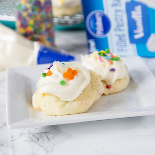 Frosted Funfetti Cake Mix Cookies Recipe