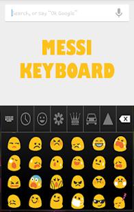 Keyboard for Messi Fans Emoji - náhled