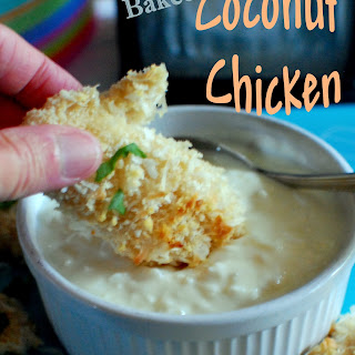 Baked Coconut Chicken.