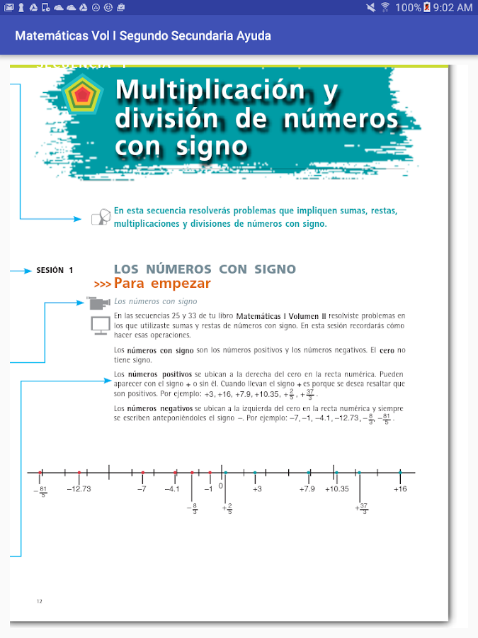 Ayuda Matemáticas Vol1 2do Sec- screenshot