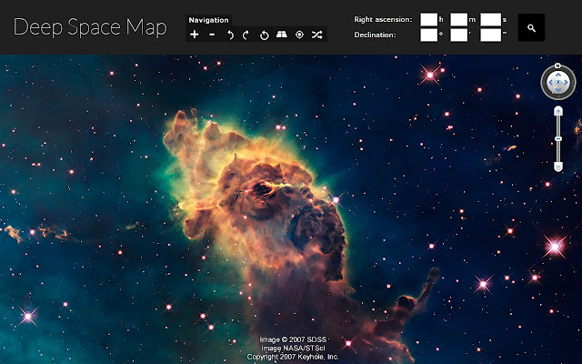 Sky Map Chrome Web Store - Astronomical map of galaxies in the us
