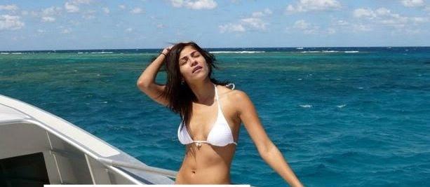 Archana Vijaya in white bikini