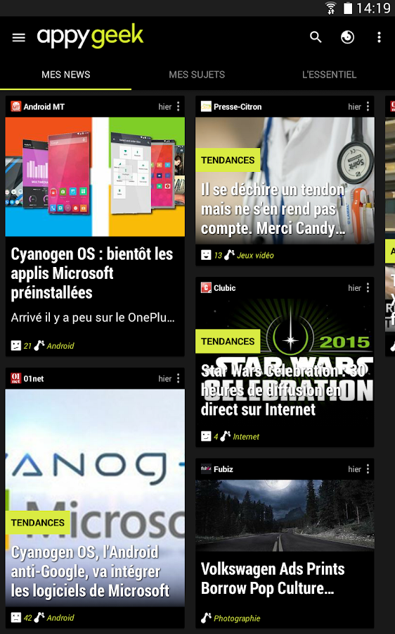 [APPLICATION ANDROID - APPYGEEK] L'application geek d'actualité indispensable [Gratuit][27/04/2015] UsWIsV61-BOu0yqhXPTyf3yb3o0b9hY3t33UUOoeI6V-bAqnoFgUx4cySdXrmgMSIYc=h900