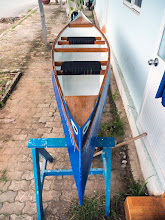 Photo: a 99% completed canoe!
