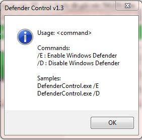 defender control cmd