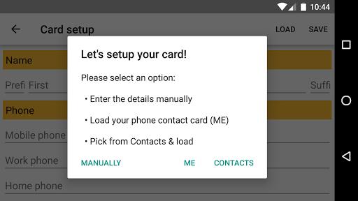 Business Card App screenshot 2