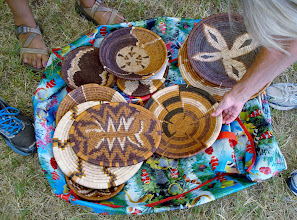 Photo: Locally made baskets sold at the event