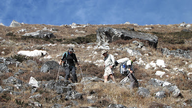 Photo: At last the descent eases to only steep