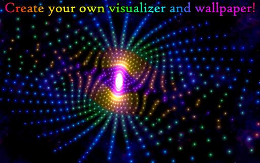 Morphing Galaxy Music visualizer & Live Wallpaper screenshots 2