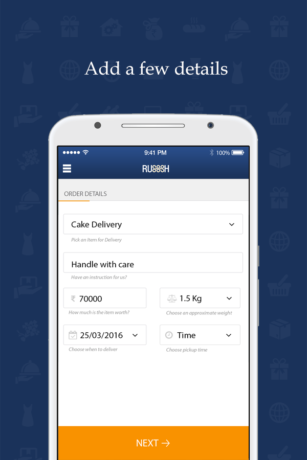 Russsh - Delivery App- screenshot