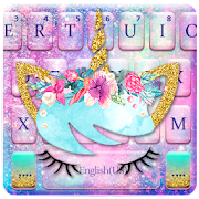App Icon for Galaxy Flower Unicorn Keyboard Theme App in United States Play Store