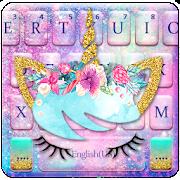 Galaxy Flower Unicorn Keyboard Theme