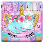 Galaxy Flower Unicorn Keyboard Theme Icon