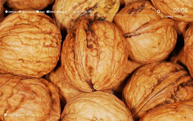 Walnuts Wallpaper HD New Tab Theme