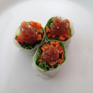Fresh Spring Roll with Cashew & Lime Sauce