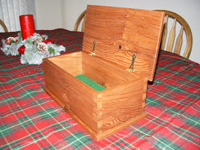Photo: Redwood keepsake box for a friend, with handcut dovetails.
