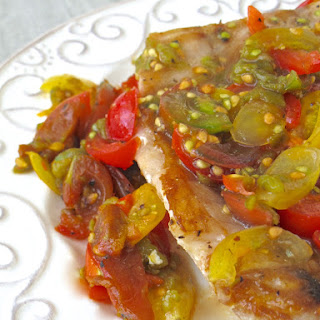 Snapper with Hatch Chile Salsa