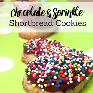 Chocolate & Sprinkle-Coated Shortbread Cookies – Mini Chef Mondays
