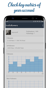 Unfollowers & Followers Analytics for Instagram Screenshots
