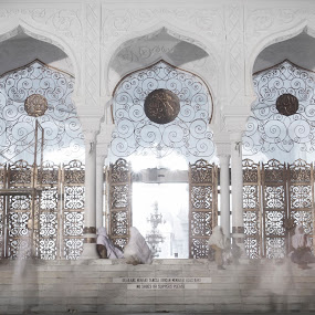 baiturrahman mosque by Khairi Went - Buildings & Architecture Architectural Detail ( aceh, indonesia, mosque, white, architecture, people, heritage, culture, religious, ramadhan, gate )
