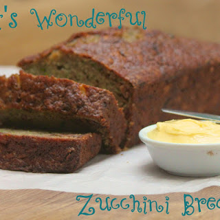 Cait's Wonderful Zucchini Bread