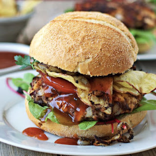 Buffalo Tempeh Burger [Vegan].