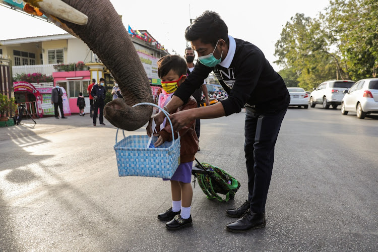 Each year, elephants from the Royal Elephant Palace in Ayuttaya visit school children before Christmas to hand out presents.