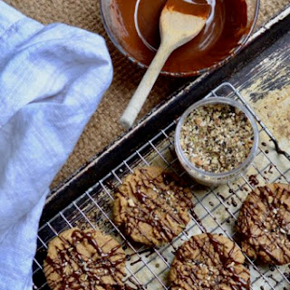 Peanut Butter and Chocolate Drizzle Cookies Recipe