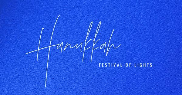Festival of Lights - Hanukkah Template