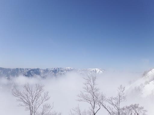 縫ヶ原山(中央右)、能郷白山(中央左)など