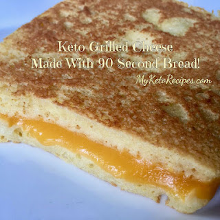 Keto Grilled Cheese Made with 90 Second Bread Recipe