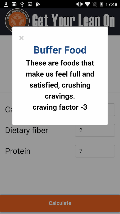 Craving Factor Formula- screenshot