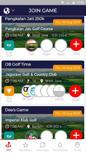 deemples hosting golf games game names