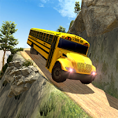 School Bus Driving Up Hill Rush - Free Bus Games