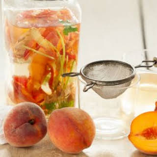Peach-Ginger Water with Cilantro.