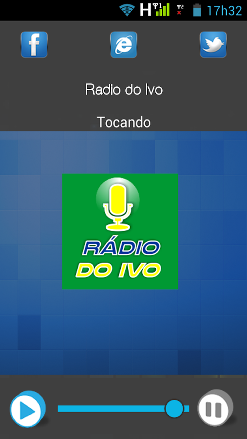 Rádio do Ivo: captura de tela