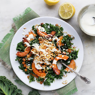 Spiced Chickpea, Kale & Squash (or Pumpkin) Salad.