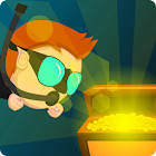 Underwater treasure hunter icon