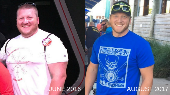 Beau Fore Showing 80 pound weight loss