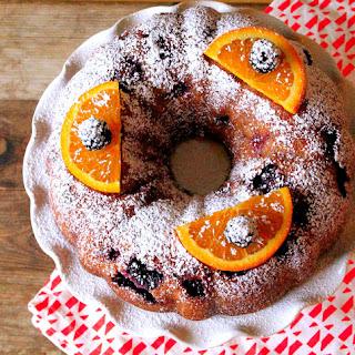Blackberry Bundt Cake with Orange Glaze