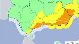 Alerta naranja en toda la provincia.