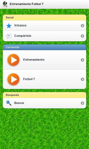 Entrenamiento Futbol 7