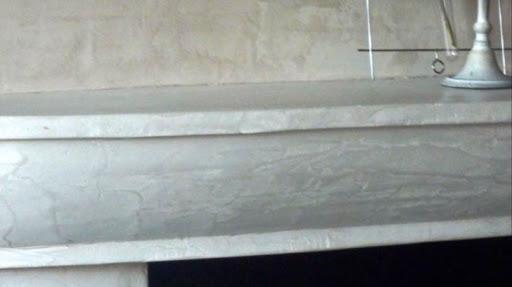 beton ciré sur cheminée