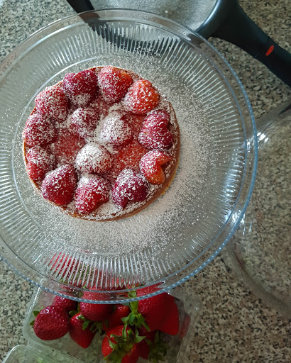 Junior's Strawberry Cheesecake (Shortcut method)