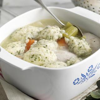 Chicken and Leek Stew with Parsley Dumplings