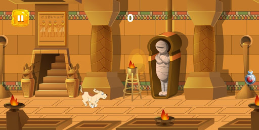 Dog Rush : Funny Dog running in ancient Egypt  captures d'écran 2